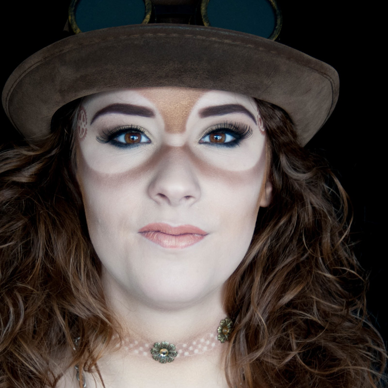 Steampunk dames skibril make-up